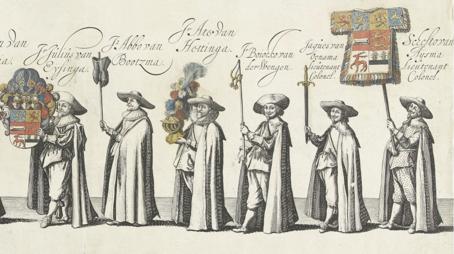 Schelte van Aysma in processie (rechts)