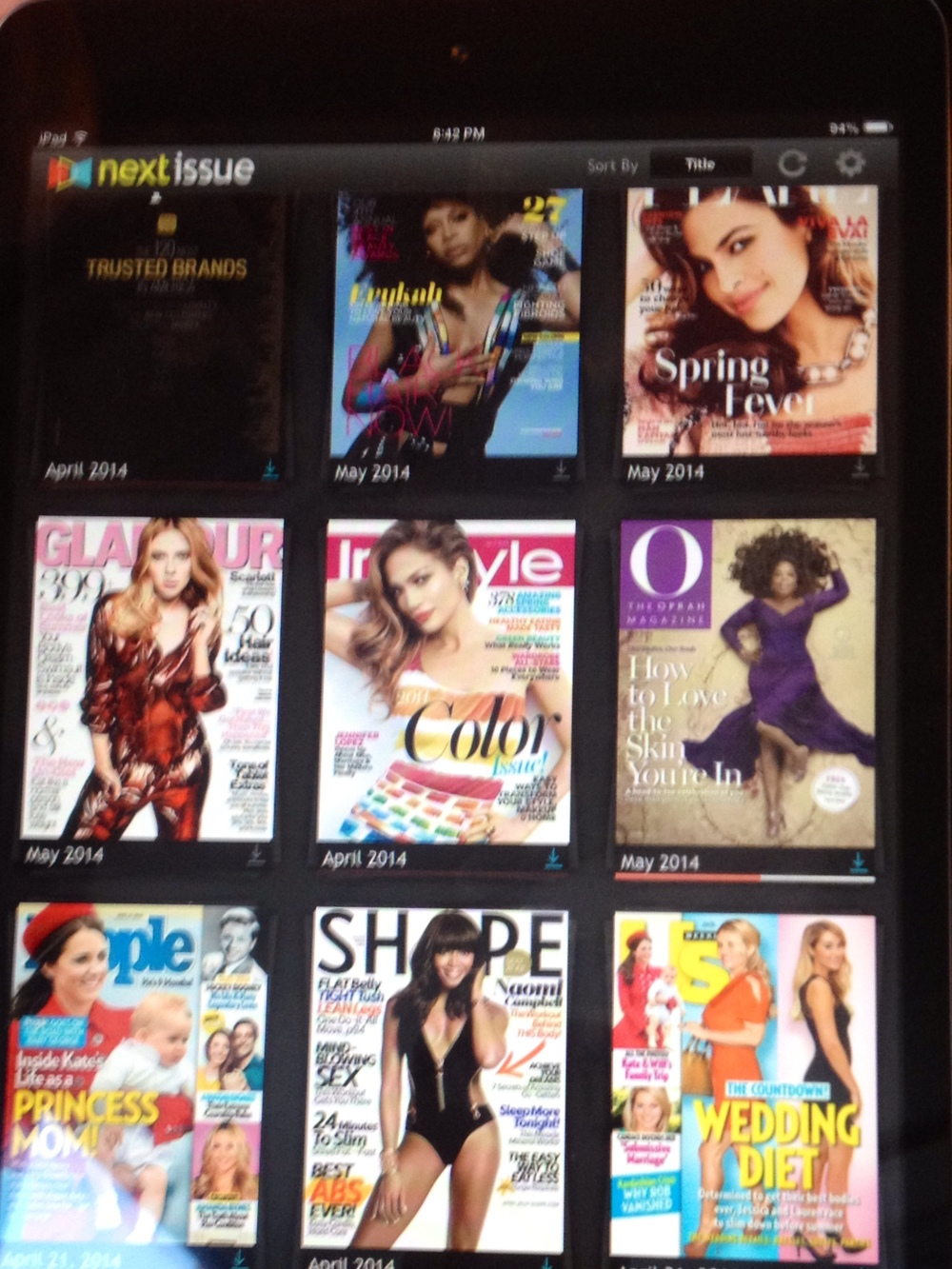 No paper waste at GlowOut. Catch up on all your reading on their IPAD's stocked with the latest mags.