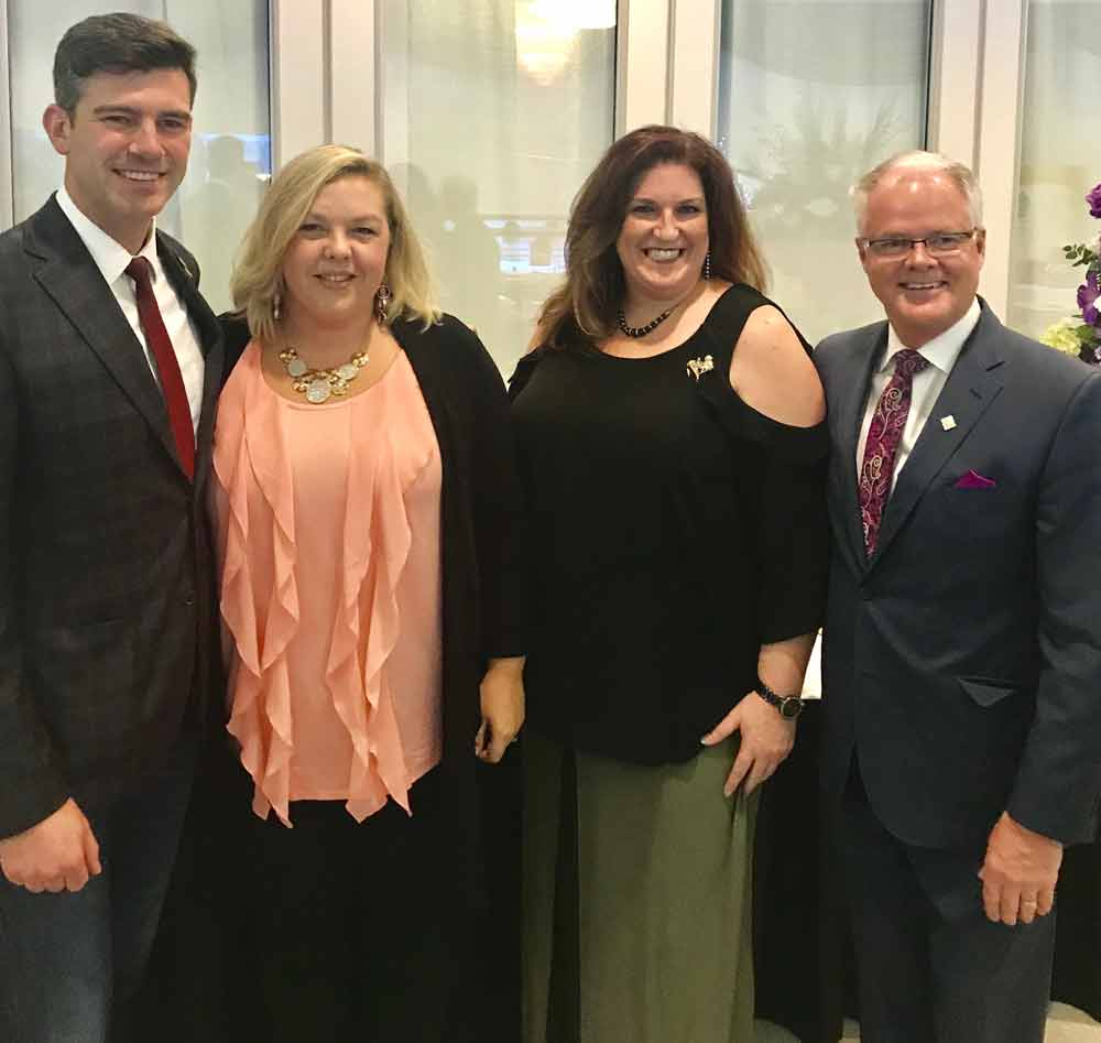 Mayor Don Iveson, Spruce Grove Councillor Michelle Thiebaude-Grukle, Amanda Welliver, and Spruce Grove Mayor Stuart Houston.