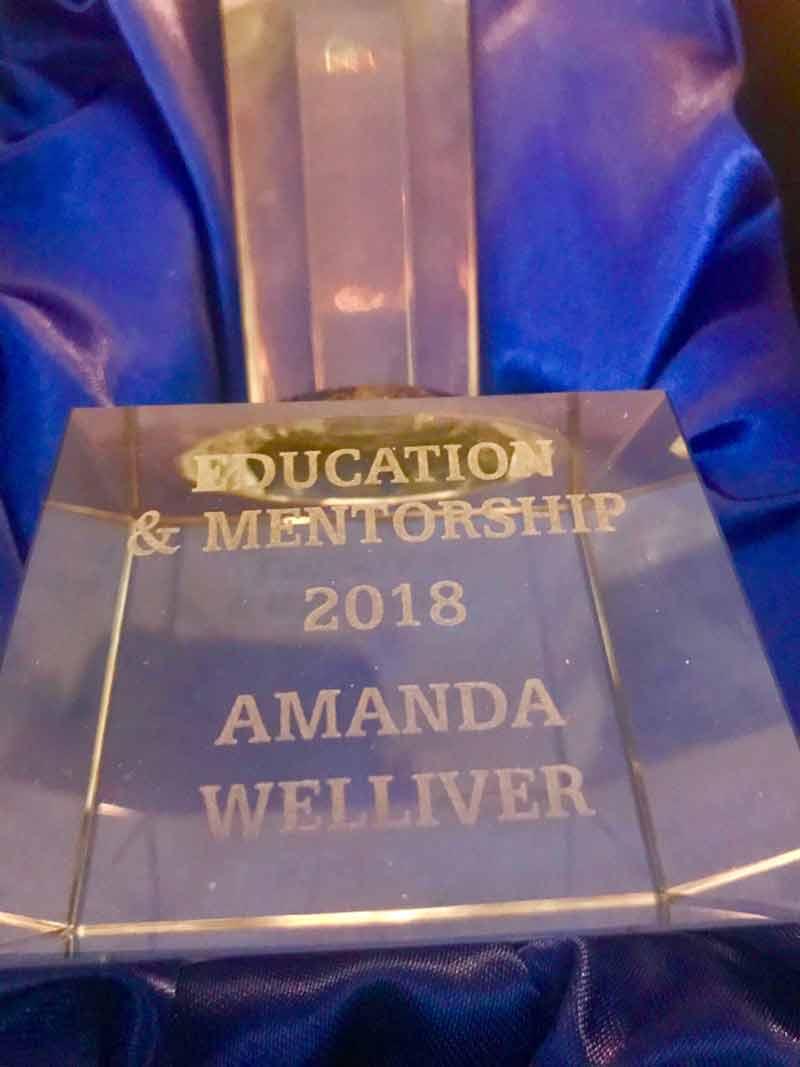 Award winner Amanda Welliver.