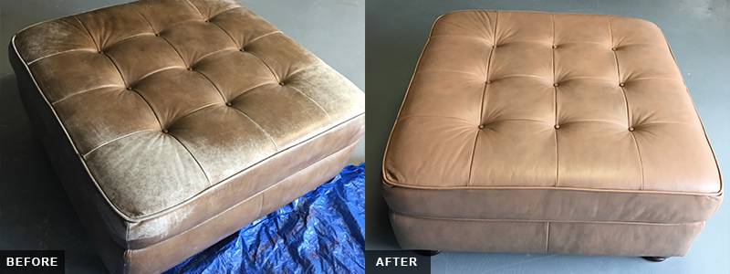 Leather ottoman Fatigue Repair and Restoration Oakland County, MI - Leather ottoman Fatigue Repair and Restoration Macomb County, MI - Leather ottoman Fatigue Repair and Restoration Wayne County, MI
