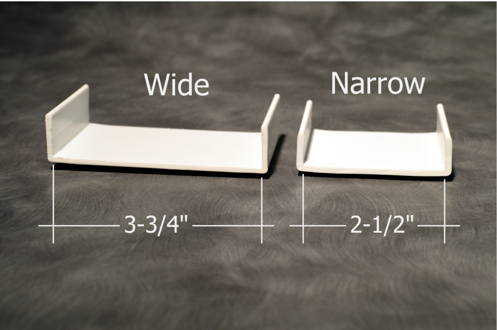 Narrow and wide trays