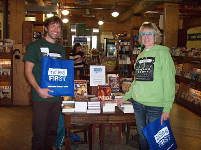 Chris Howard and BK Loren at Tattered Cover.
