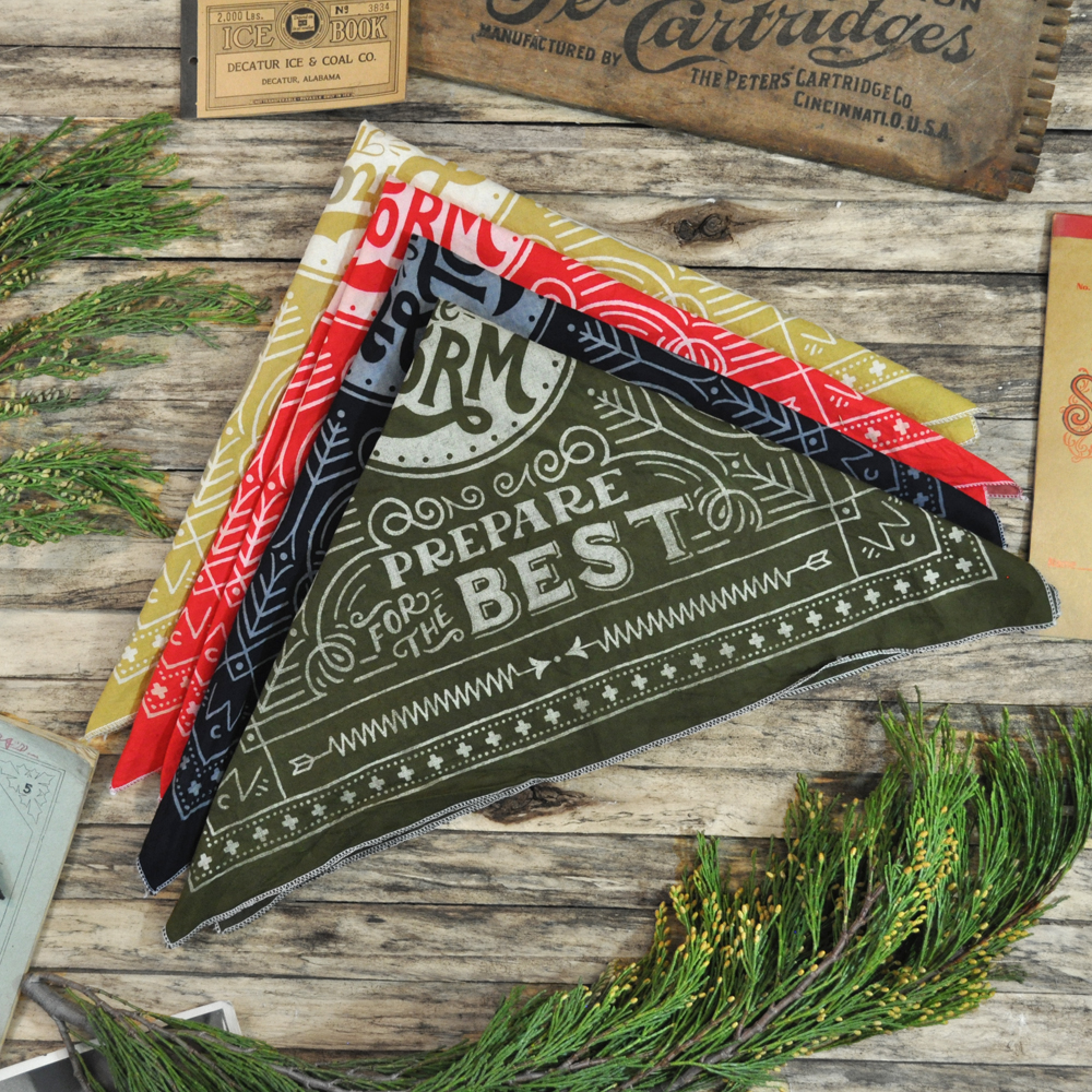 Green Folded Winter Cabin Bandana.jpg