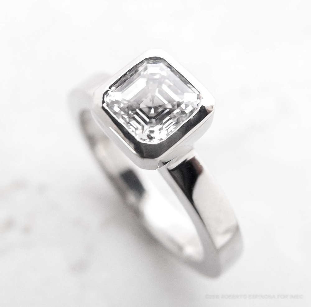 Twist on a classic. Vintage #diamond with modern flair. Ask about our #customized #IMECSolitiare.