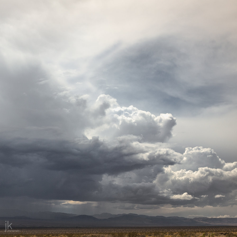 A high structure storm near Gallup, New Mexico. The image was made from Route 66.