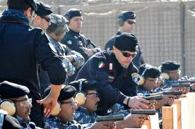 Carabinieri range training