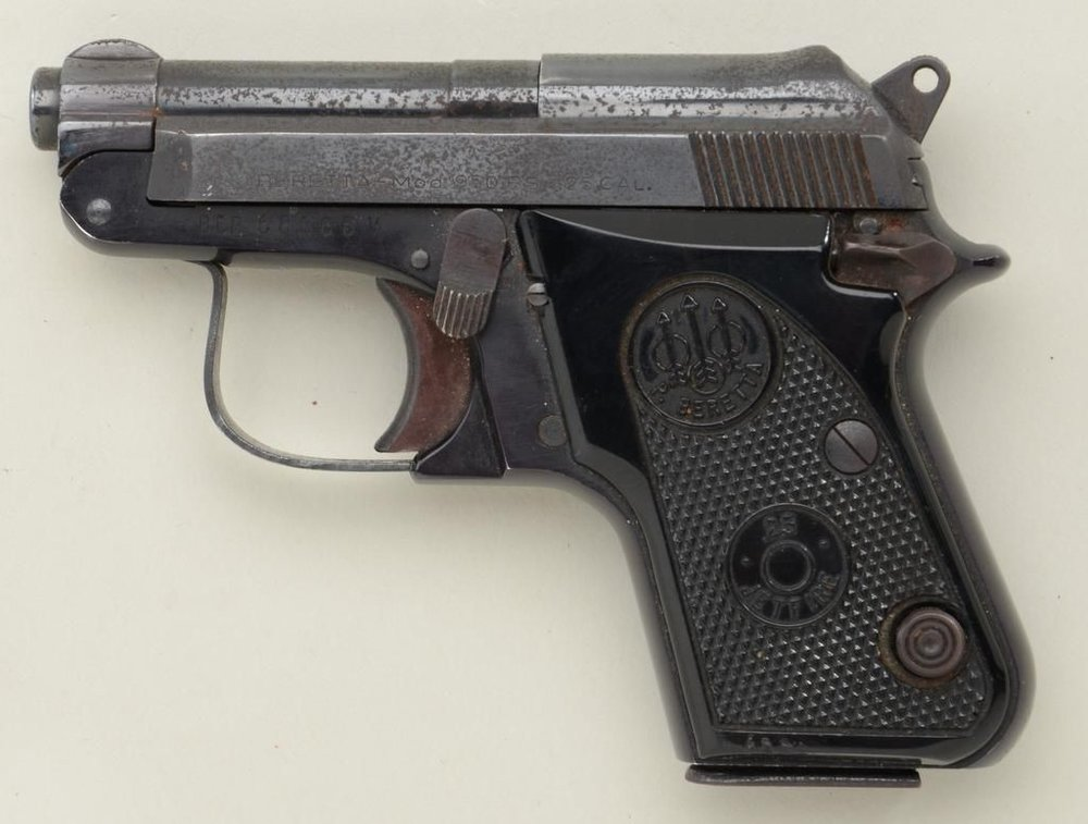Beretta Model 950 BS .25 ACP  - The Beretta 950 is a semi-automatic pistol designed and manufactured by Beretta since 1952.