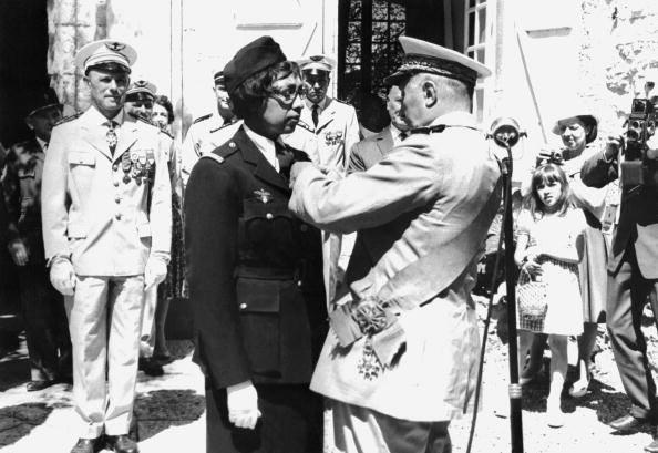 August 18, 1961, Joséphine Baker at the Croix de guerre decoration ceremony