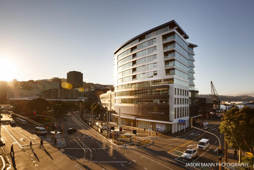 © Jason Mann Photography - One Market Lane, Wellington. Hero Exterior