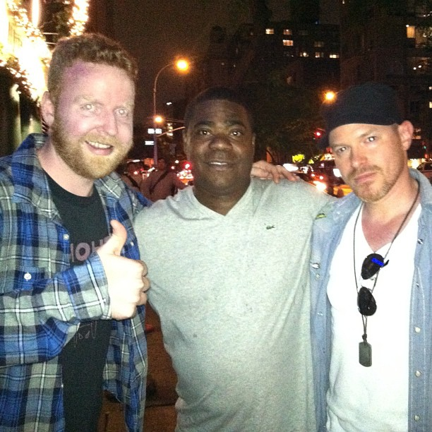 Dave and Tracy Morgan and Roy