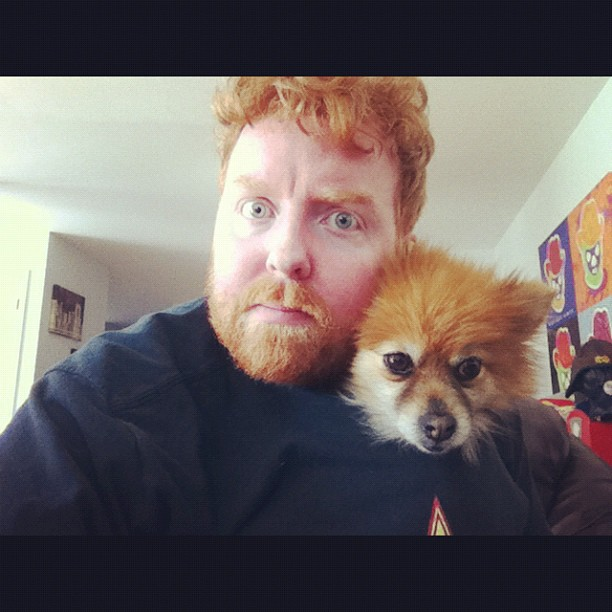Dave and dog
