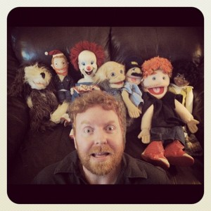 Dave and puppets