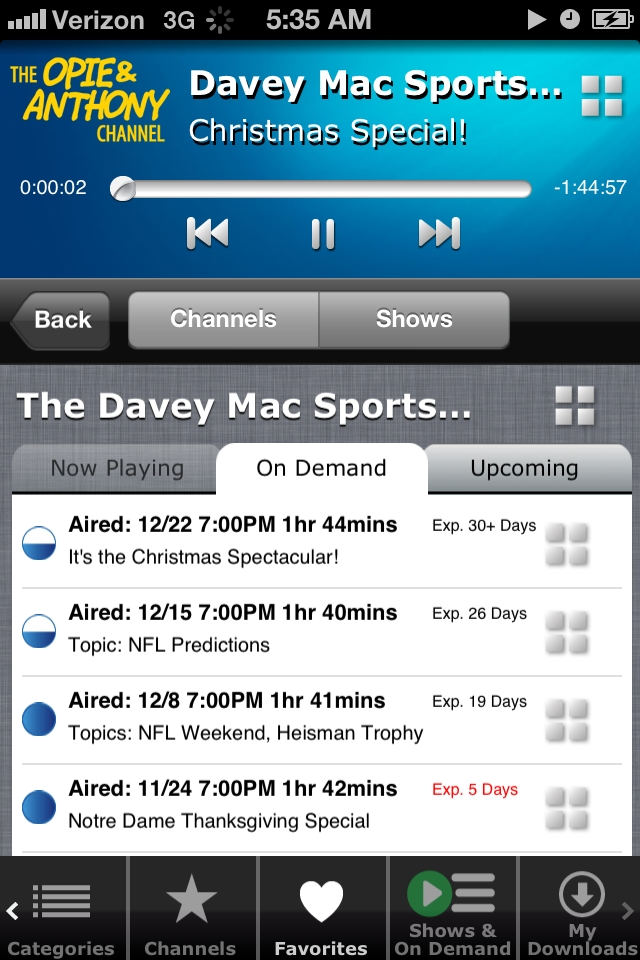 Davey Mac Sports On Demand