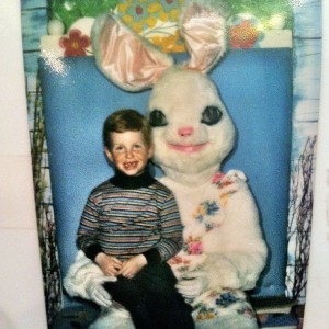 Little Davey with the Easter Bunny
