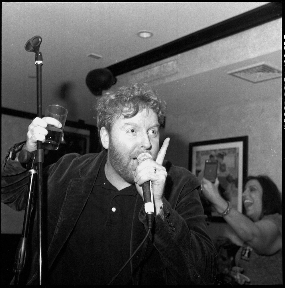 Dave sings at his birthday party