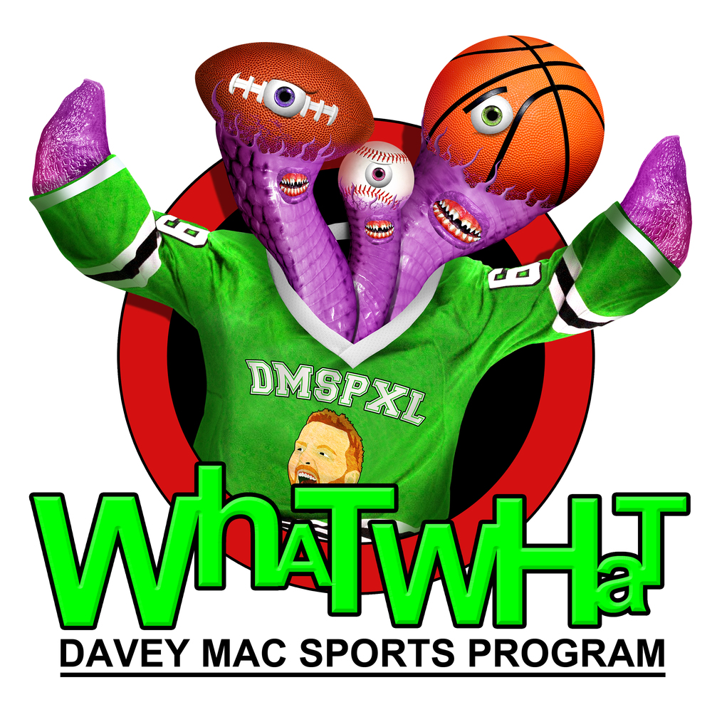 WhatWhat the Sports Monster - the official mascot of the Davey Mac Sports Program