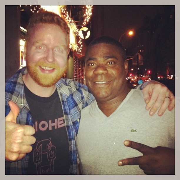 Davey Mac and Tracy Morgan at the Davey Mac Movie-thon