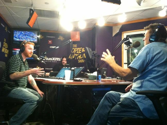 Dave with Cousin Bruce on Dave's show at SiriusXM