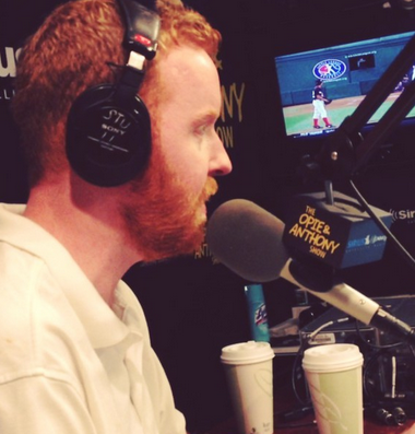 Dave on the air at SiriusXM