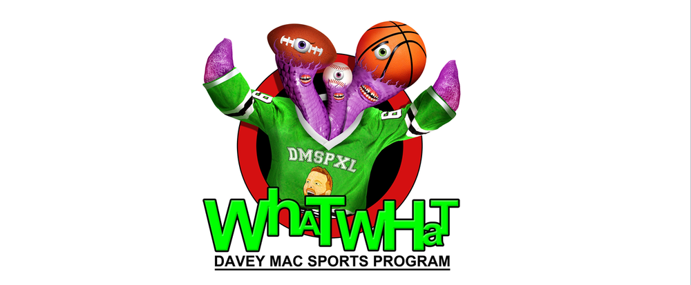 WhatWhat the Sports Monster - the official mascot of the Davey Mac Sports Program!