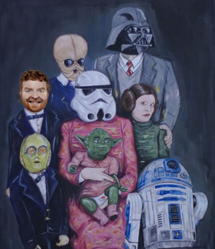 Portrait of one fucked-up space family