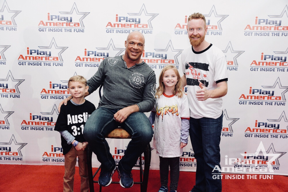 The Mac Foundation (left to right):                                                       Stanley Mac, Kurt Angle Mac, Julianna Mac, Davey Mac