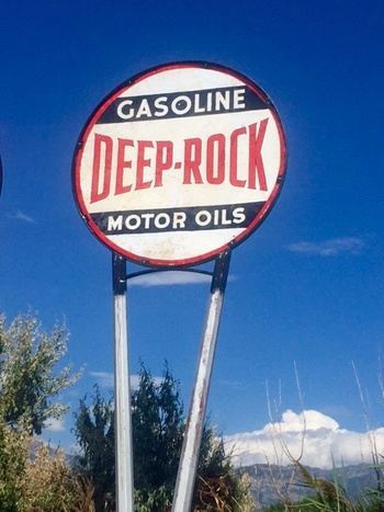 - Deep Rock started back in 1913 and was bought out by the Kerr McGee Co in 1955 so the signs are pretty old. It is one of the last three that finally put us at the 100