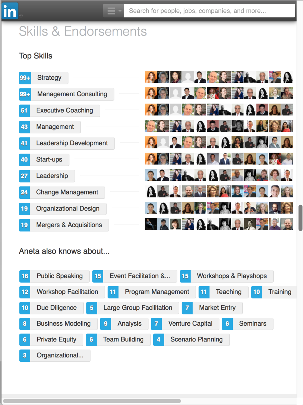 Aneta Key is most endorsed on LinkedIn for Strategy, Management consulting, Executive coaching, Leadership Development, Start-ups, Change Management, M&A, and Org design