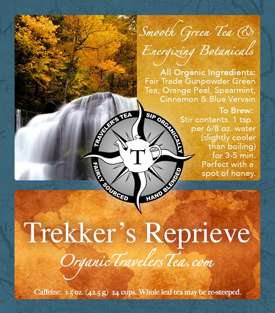 Organic Travelers Tea Labels by Verglas Media