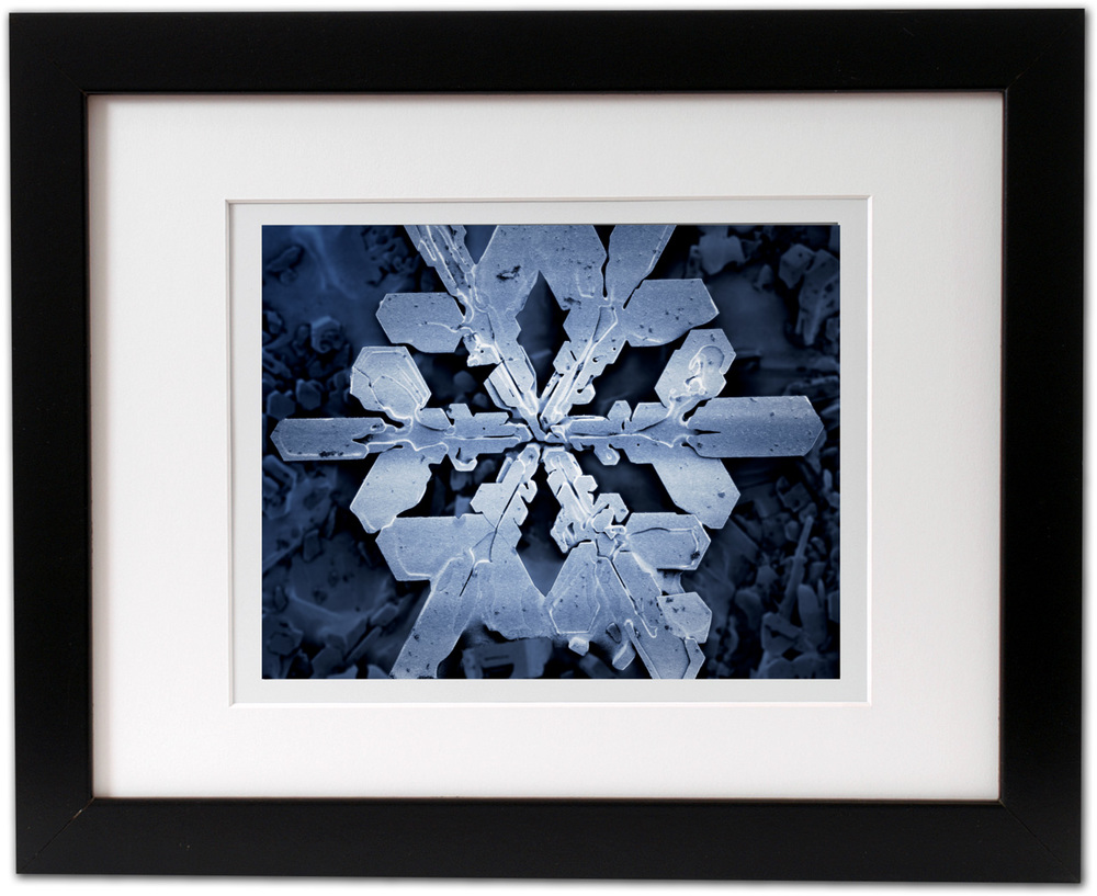 """Snowflake"" (a.k.a. ""Powder"") - printed digital media, framed"