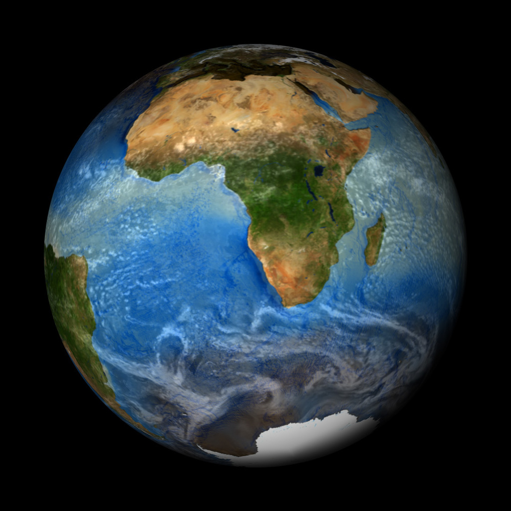 A beautiful and enlightening perspective:  Earth from space. Data sources for film composite: NASA/NOAA