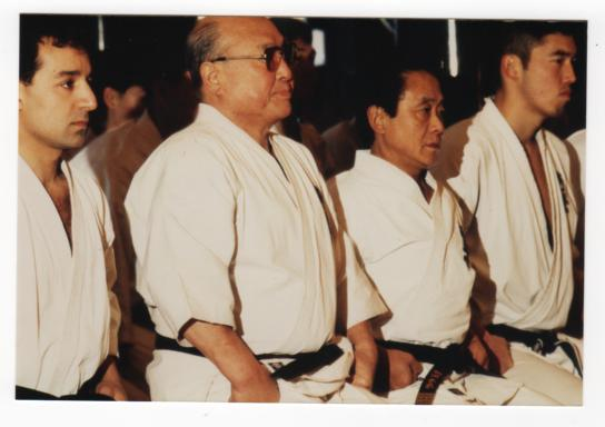 Shihan Hamid with Sosai, Mas Oyama