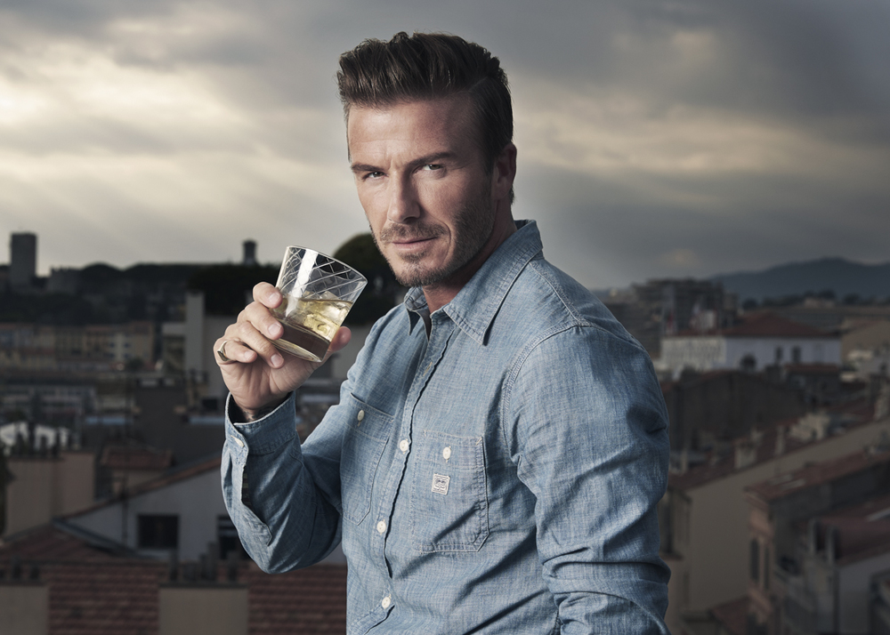 David Beckham, shot for Haig Club Whisky - Cannes, October 2014.