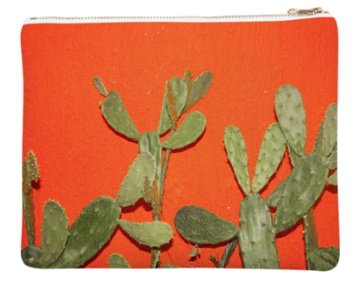 "TO CACTI FOR    Neoprene Zip Bag  10"" w x 9"" h       Seventy Two Dollars"
