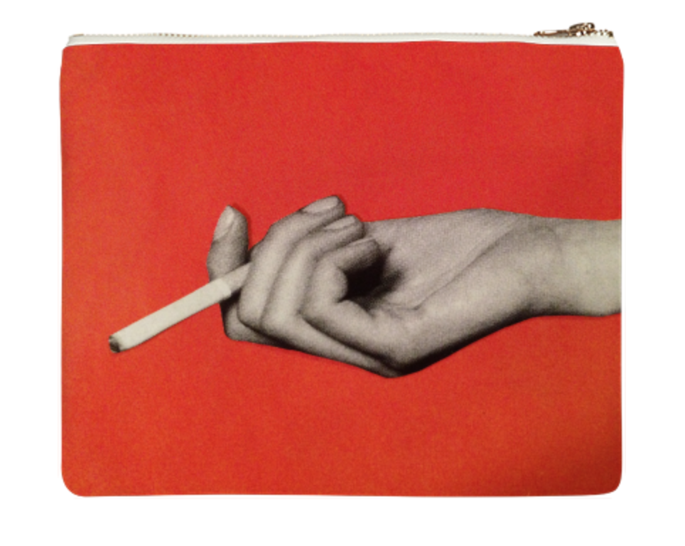 "CIGGY BAG    Neoprene Zip Bag  10"" w x 9"" h       Seventy Two Dollars"