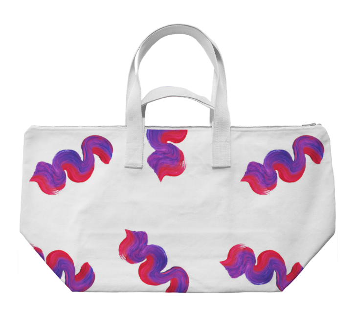 WAVY WEEKENDER    Cotton Canvas Bag      Seventy Five Dollars