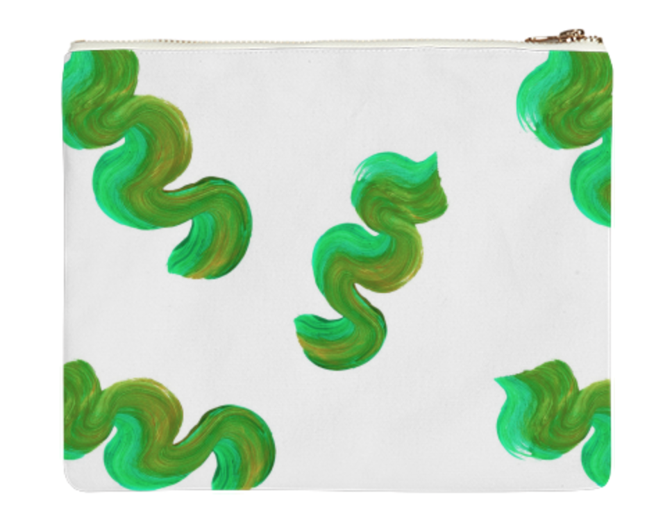 "WAVY BAG    Canvas Clutch  10"" w x 9"" h       Seventy Two Dollars"