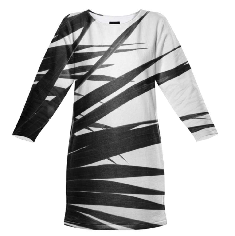BW PALMY DRESS    Totally All Cotton Sweatshirt Dress      Ninety Five Dollars