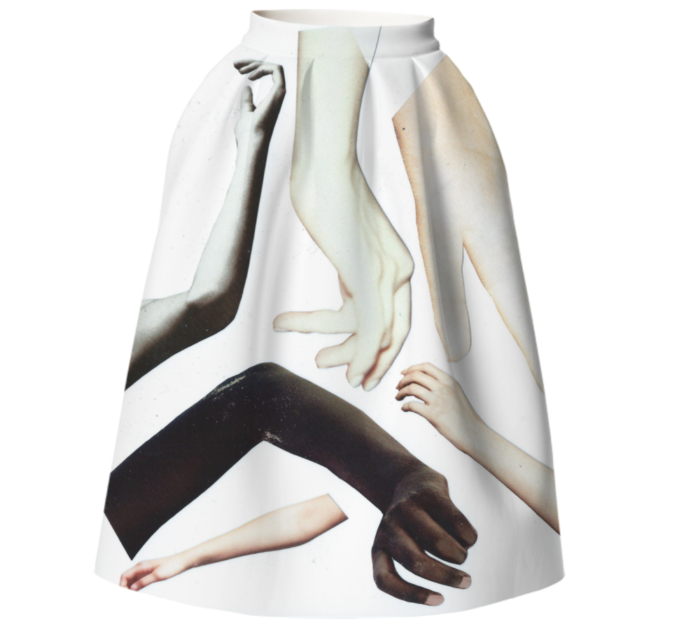 HANDY SKIRT    Neoprene Full Skirt      One Hundred Forty Two Dollars