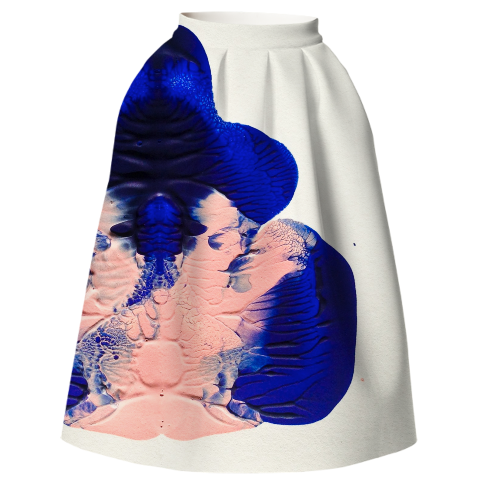 BLOT SKIRT    Neoprene Full Skirt      One Hundred Forty Two Dollars