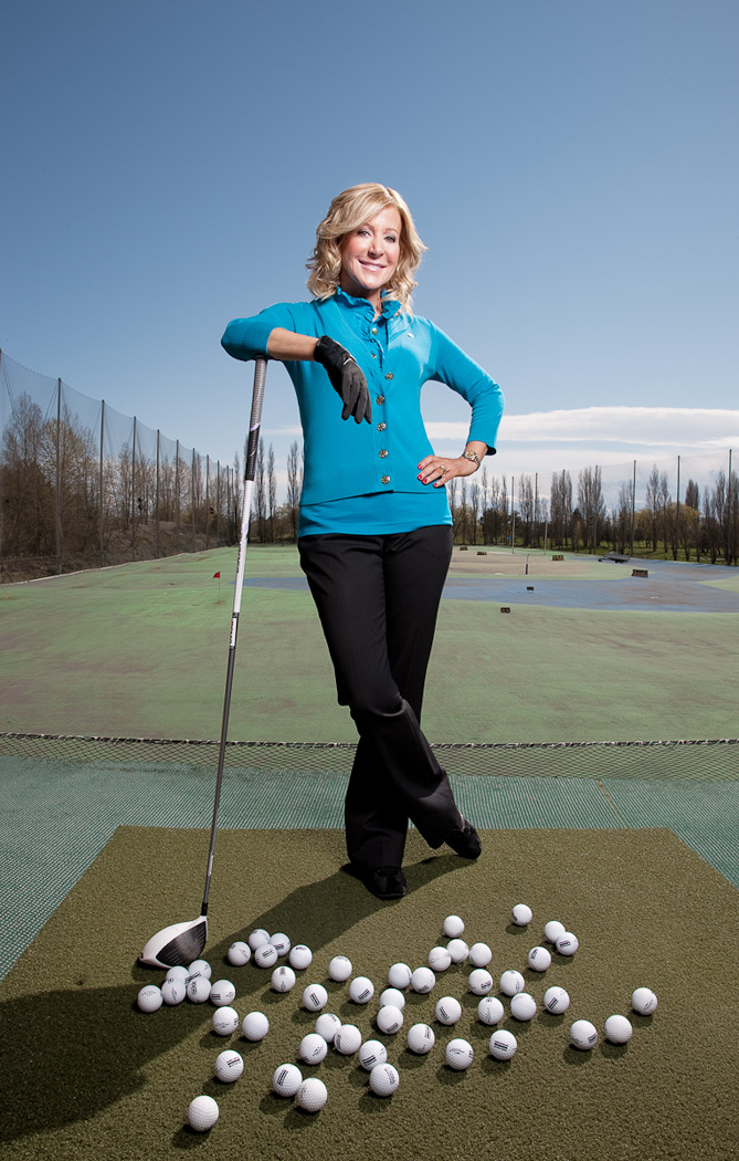 Wendy Lisogar-Cocchia, owner of the Absolute Spa chain, for Real Golf Magazine.
