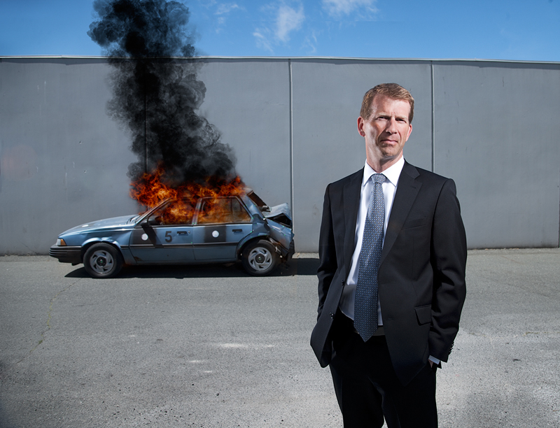 Editorial portrait. Gunter Sigmund, CEO & President of MEA Forensic Engineers & Scientists Ltd.