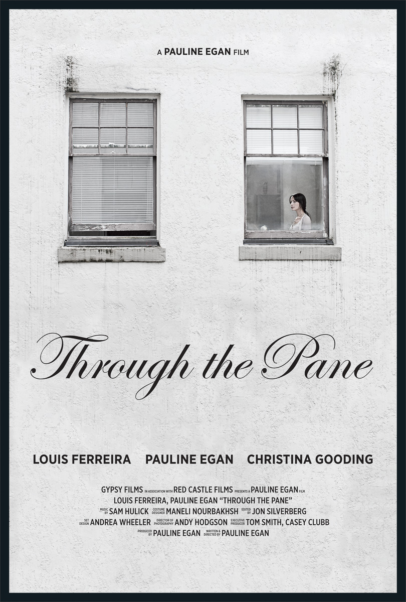 Movie poster photography for local indie film 'Through the pane'.