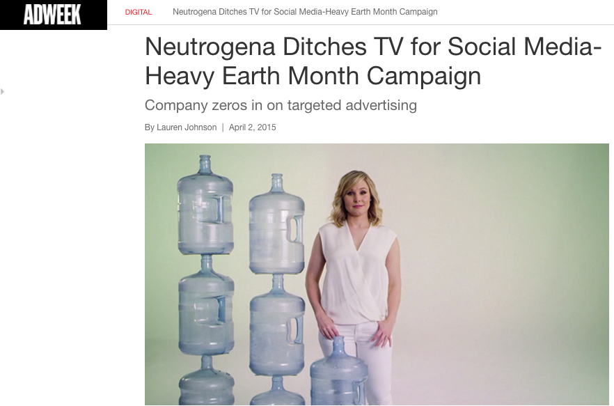 Neutrogena Ditches TV for Social Media-Heavy Earth Month Campaign