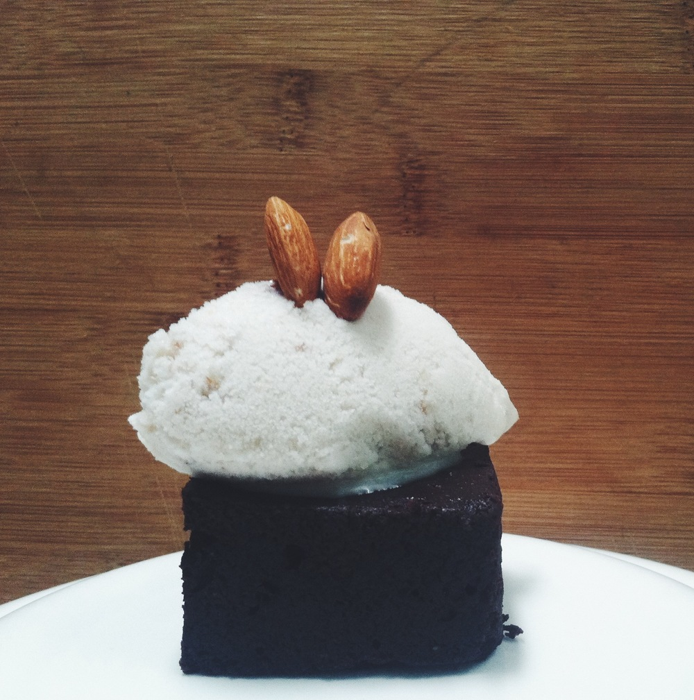 """Serious Business"" Brownie w/ Maple Bourbon Ice Cream"