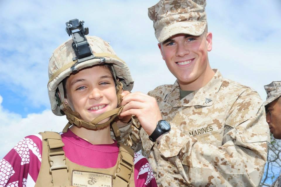 Marine and sister.JPG