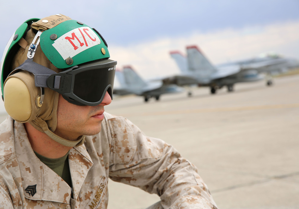Marine on tarmac.JPG
