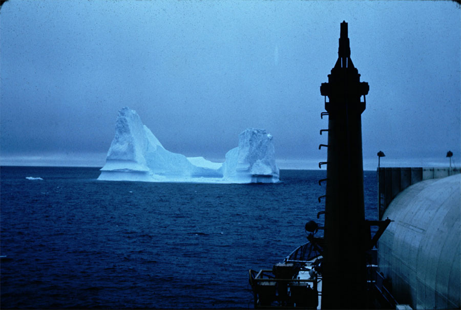 U.S. Coast Guard photo of Pinnacle Iceberg from Ship