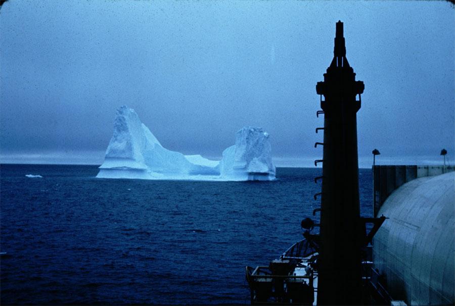 U.S. Coast Guard photo of Pinnacle Iceberg from Ship
